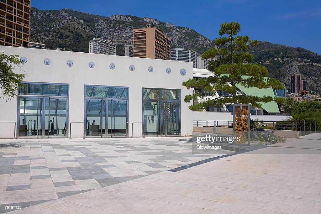 Facade of a building, Monte Carlo, Monaco : Stock Photo