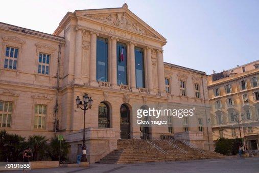 Facade of a building, Nice, France : Stock Photo