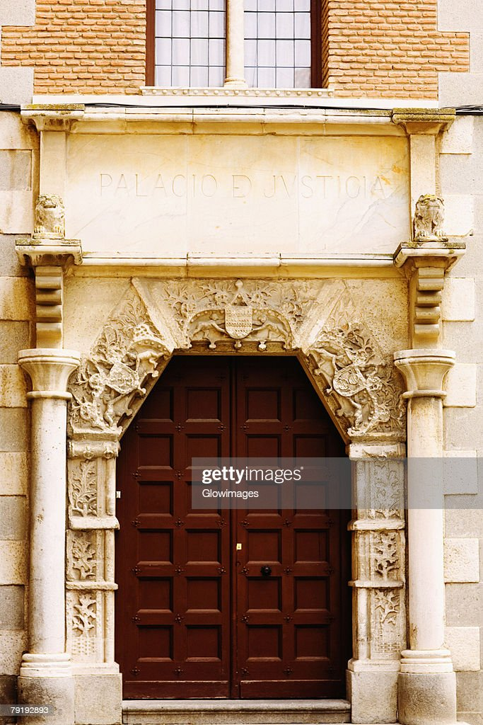 Facade of a building, Toledo, Spain : Stock Photo