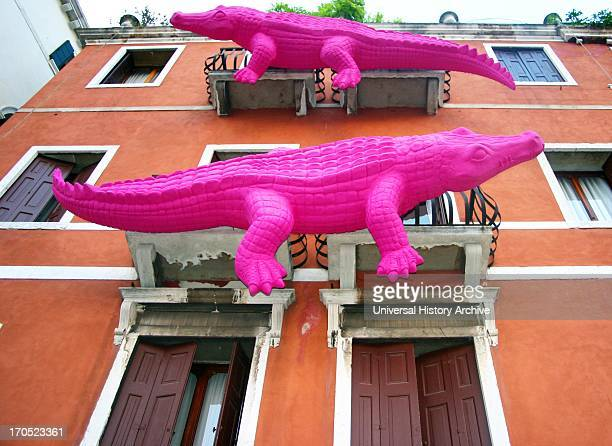 Facade of a building Venice Italy
