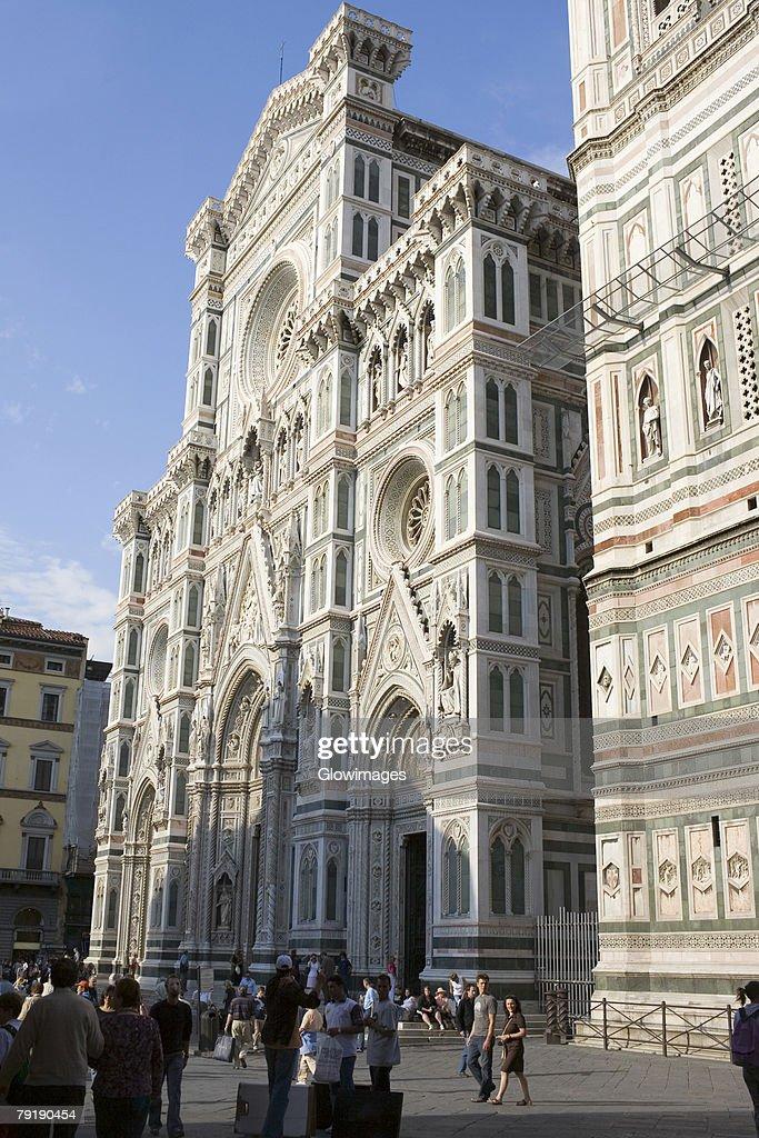 Facade of a church, Duomo Santa Maria del Fiore, Florence, Italy : Stock Photo