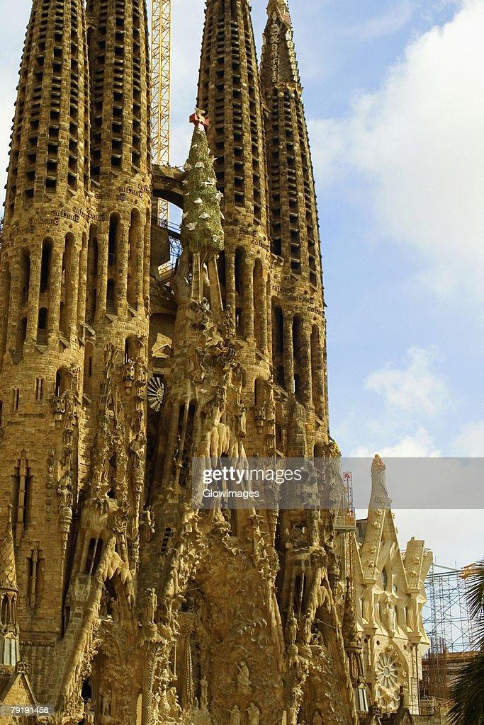 Facade of a church, Sagrada Familia, Barcelona, Spain : Foto de stock