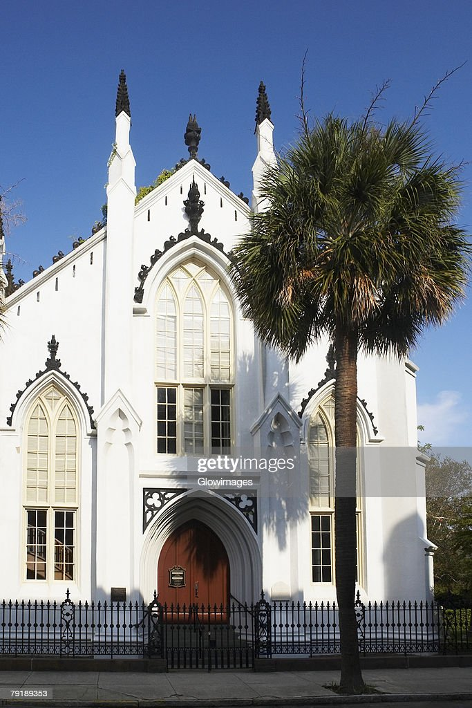 Facade of a church, St. Philips Church, Charleston, South Carolina, USA : Foto de stock