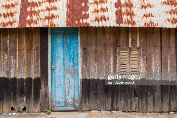 Facade of a fisherman's house, in Kampot district (cambodia