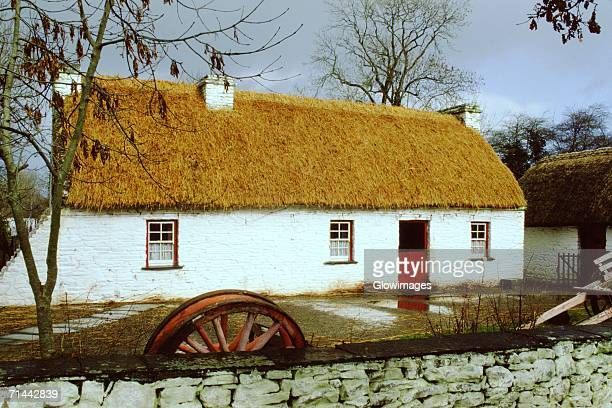 Facade of a hut, Bunratty Folk Park, Republic of Ireland