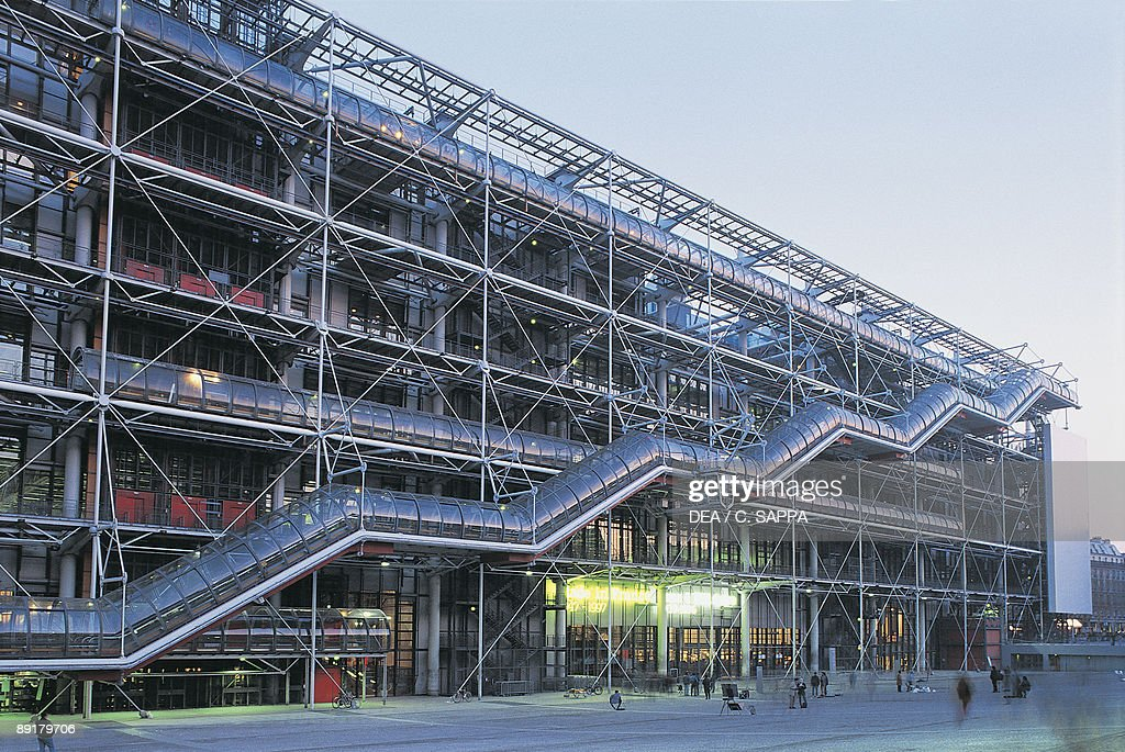 Facade of a museum Pompidou Center Paris France