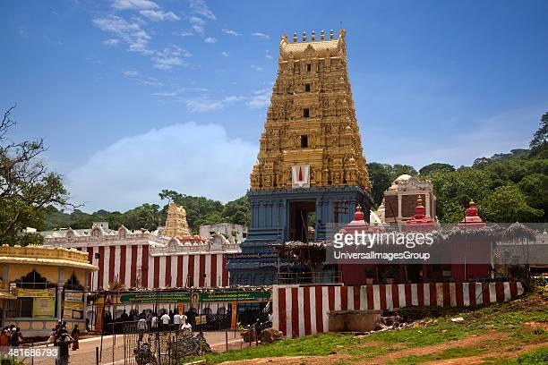 Facade of a temple Simhachalam Temple Simhachalam Visakhapatnam Andhra Pradesh India