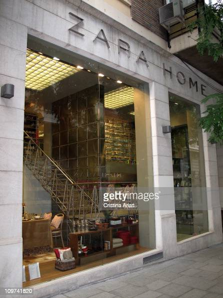 facade of a zara home shop 39 s in salamanca district of. Black Bedroom Furniture Sets. Home Design Ideas