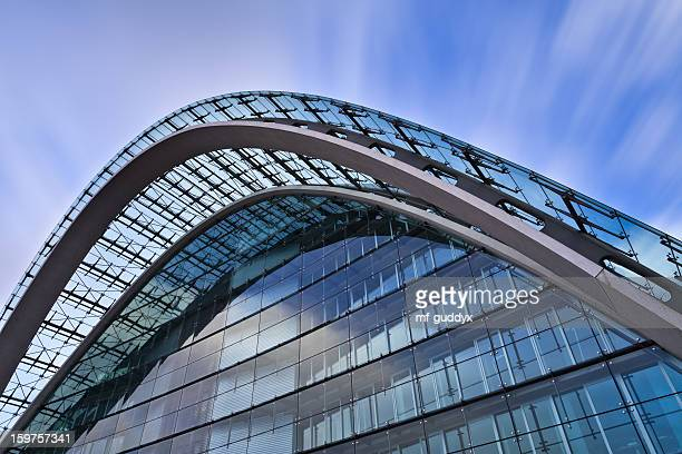 Facade of an office building - modern abstract architecture