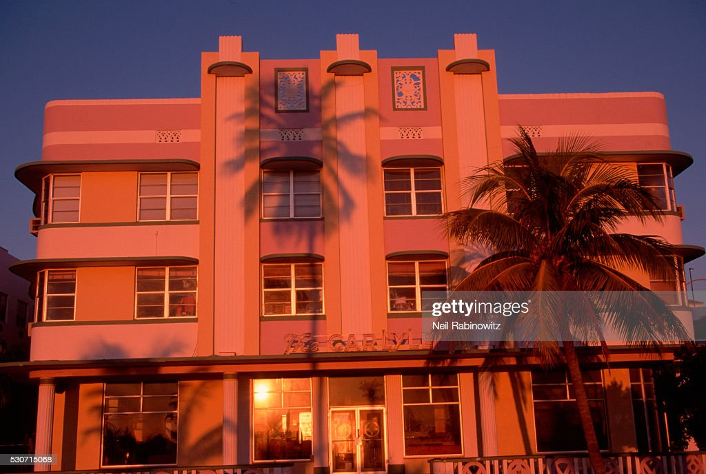 Facade Of Art Deco Building Stock Photo Getty Images
