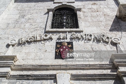 Facade of Basilica del Santo Niño with the Papal coat of arms of Pope Paul VI