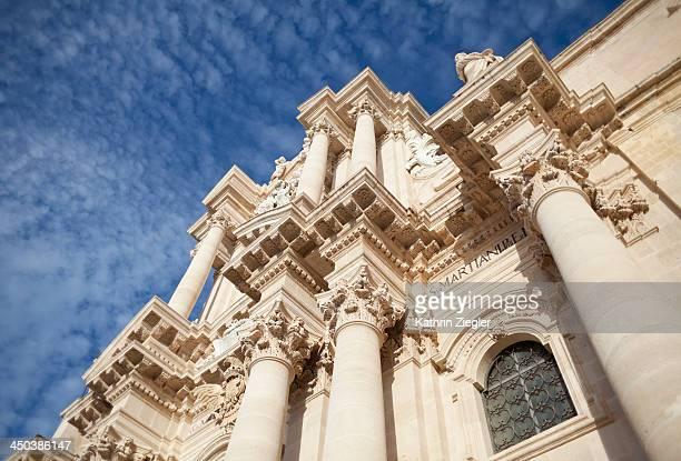 facade of cathedral, Syracuse, Sicily, Italy