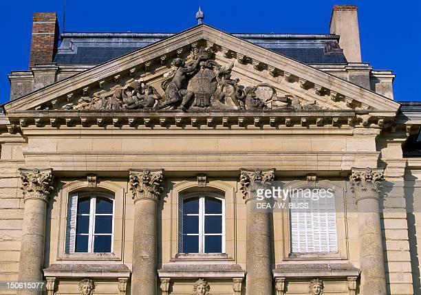 Facade of Chateau de Sable SablesurSarthe Pays de la Loire Detail France 18th century