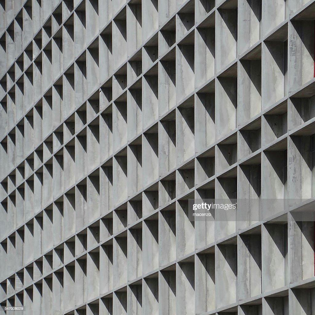 Facade of concrete building