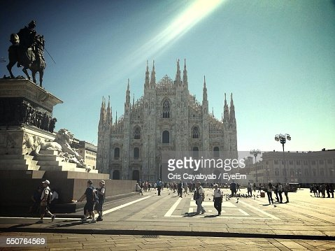 Facade Of Milan Cathedral Against Clear Sky