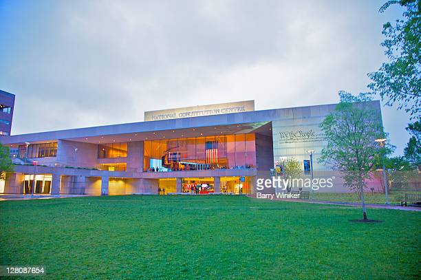 Facade of new National Constitution Center, on the Independence Mall in Philadelphia, Pennsylvania