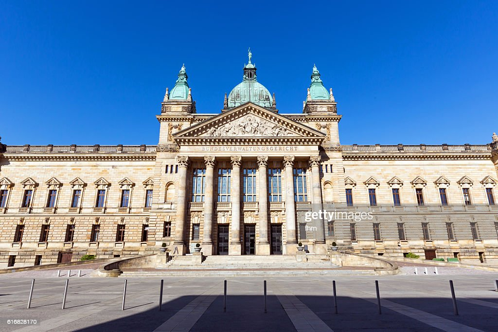 Facade of the building of the Federal Administrative Court (Bundesverwaltungsgericht) - Leipzig/ Saxony/ Germany : Stock Photo
