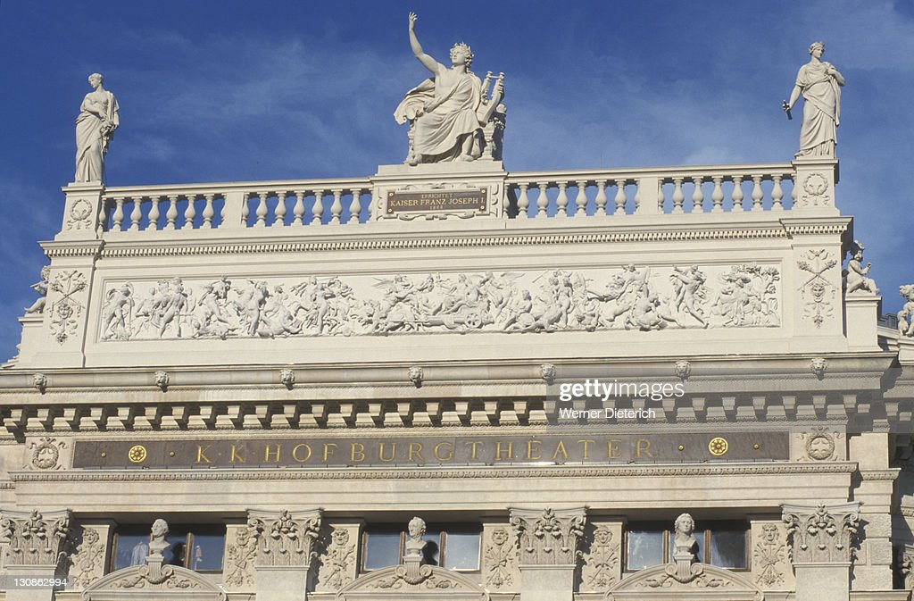 Facade of the Burgtheater Theatre, Vienna, Austria, Europe