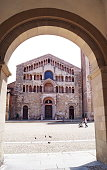 Facade of the Cathedral of Parma, Italy