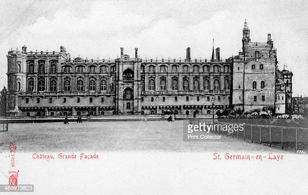 Facade of the Chateau de St GermainenLaye France The chateau was formerly a royal palace originally built in the 12th century but substantially...