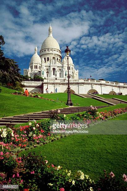 Facade of the Church of the Sacre Coeur, Montmartre, Paris, France