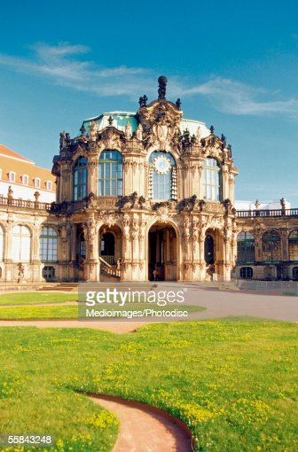 Facade of the Glockenspielpavillion of the Zwinger Palace, Dresden, Germany