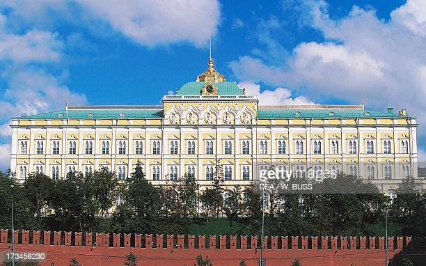 Facade of the Grand Kremlin Palace design by Konstantin Ton Kremlin Palace Moscow Central District Russia
