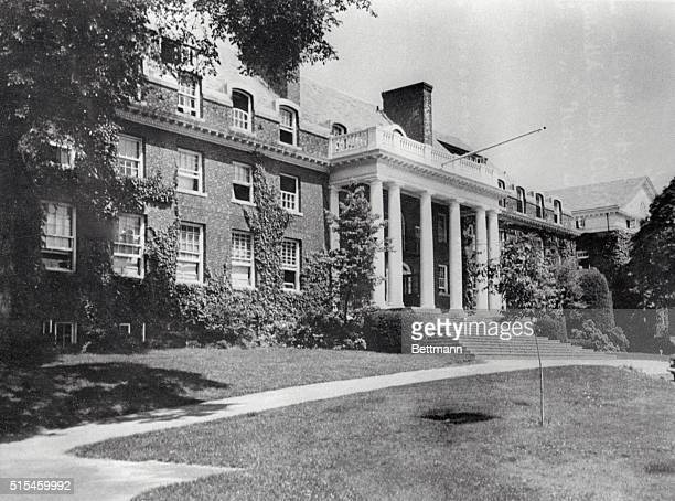 Facade of the Hill House one of the oldest buildings at Choate Rosemary Hall a preparatory school in Wallingford Connecticut John F Kennedy attended...