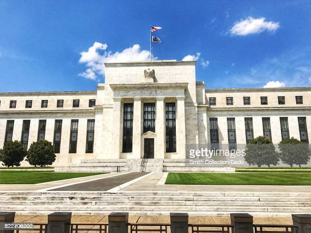 Facade of the Marriner S Eccles building of the United States Federal Reserve the agency of the Federal Government responsible for setting the...