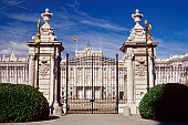 Facade of the Royal Palace, Madrid, Spain