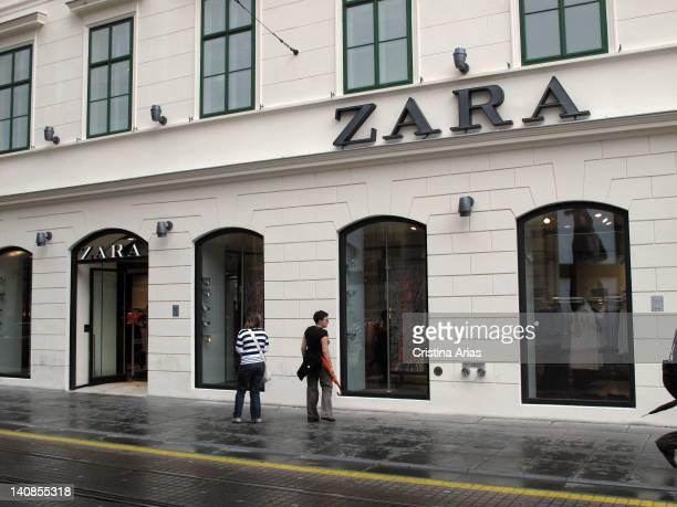 Facade of the store of Spanish fashion brand Zara in Zagreb Croatia July 2011