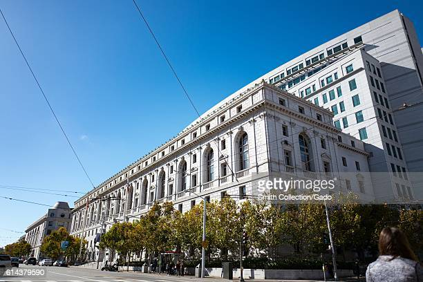 Facade of the Supreme Court of California in the Civic Center neighborhood of San Francisco California October 2 2016