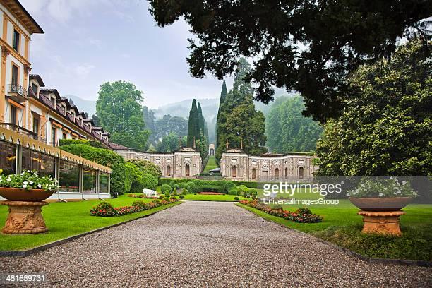 Facade of the Villa d'Este Hotel Como Lombardy Italy