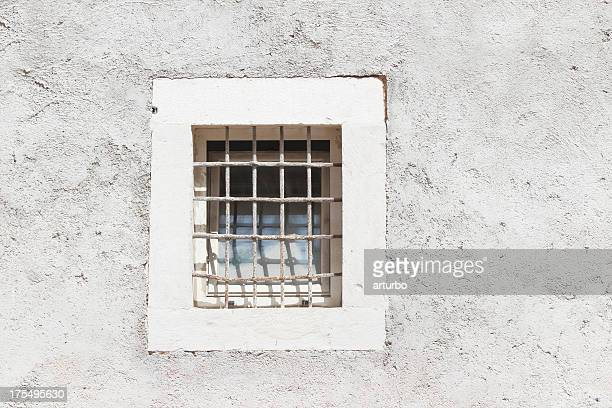 facade with closed prison window Zadar Croatia