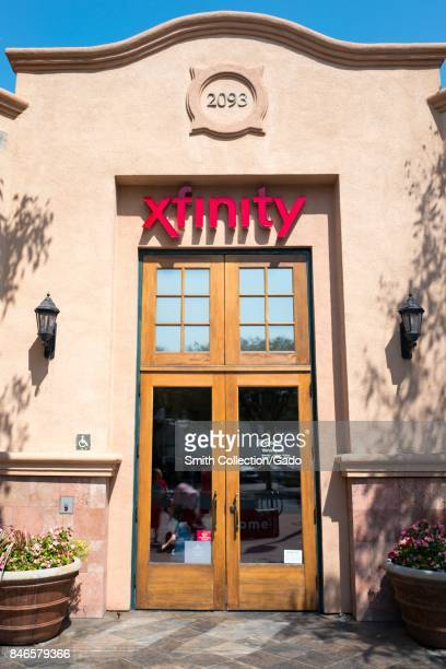 Facade with logo and signage at the Comcast Xfinity store in downtown Concord California September 8 2017