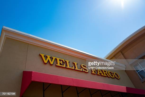 Facade with signage at Wells Fargo bank in the San Francisco Bay Area town of San Ramon California June 21 2017