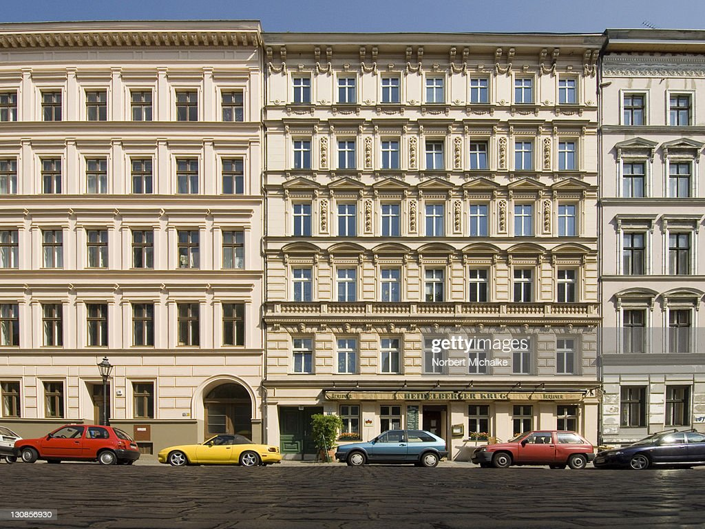 Facades of old buildings, Kreuzberg, Berlin, Germany