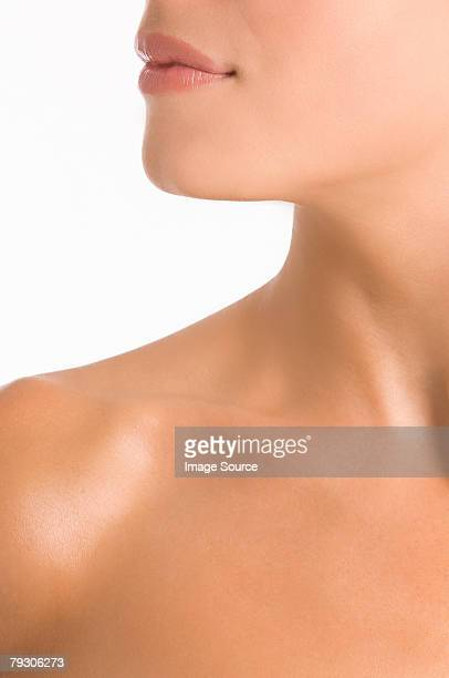 Face chin and neck of a woman