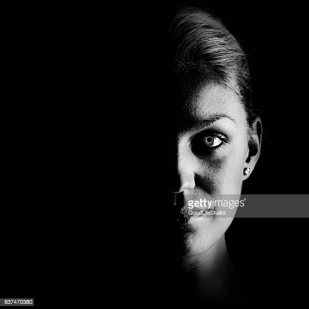 Face from darkness