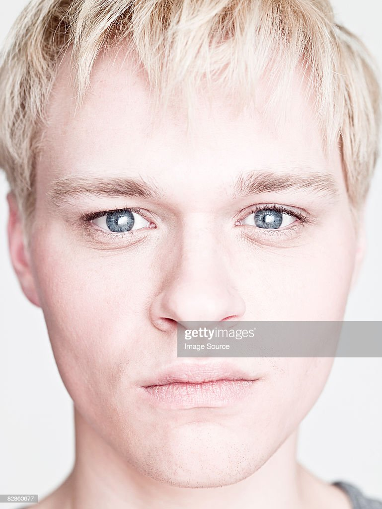 Face of a blond man : Stock Photo