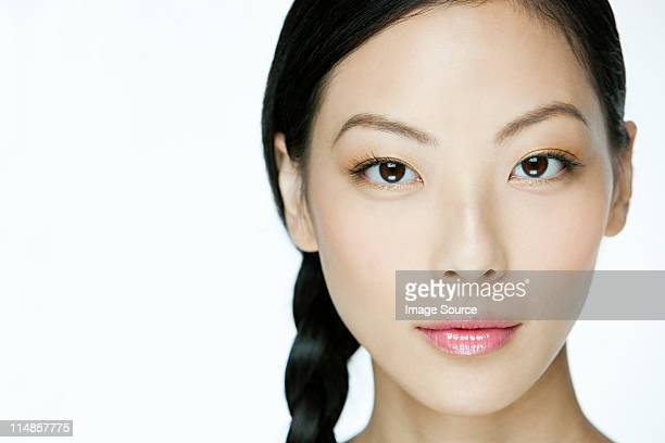 Face of a young chinese woman