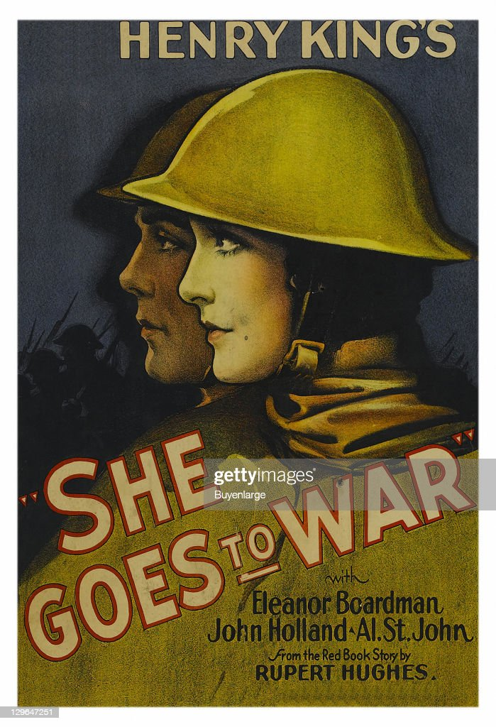 ... man in the same pose on a poster that advertises the movie 'She Goes