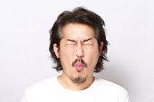 The portrait of Asian man.