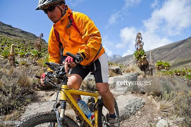 Face the downhill, Mt. Kenya