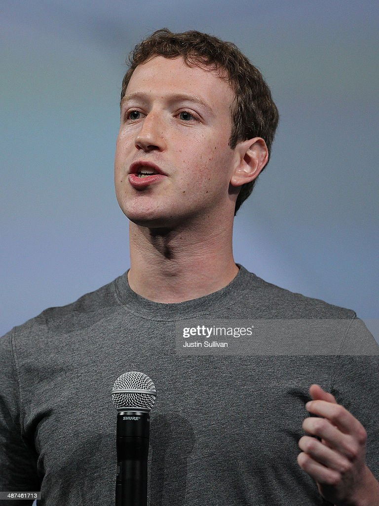 Facebook CEO Mark Zuckerberg delivers the opening kenote at the Facebook f8 conference on April 30, 2014 in San Francisco, California. Facebook CEO Mark Zuckerberg kicked off the annual one-day F8 developers conference.