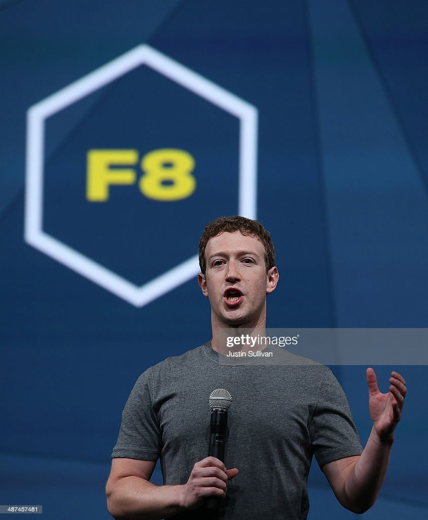 Facebook CEO Mark Zuckerberg delivers the opening keynote at the Facebook f8 conference on April 30, 2014 in San Francisco, California. Facebook is hosting the one-day conference for the first time since 2011 and expects over 1500 developers to attend.