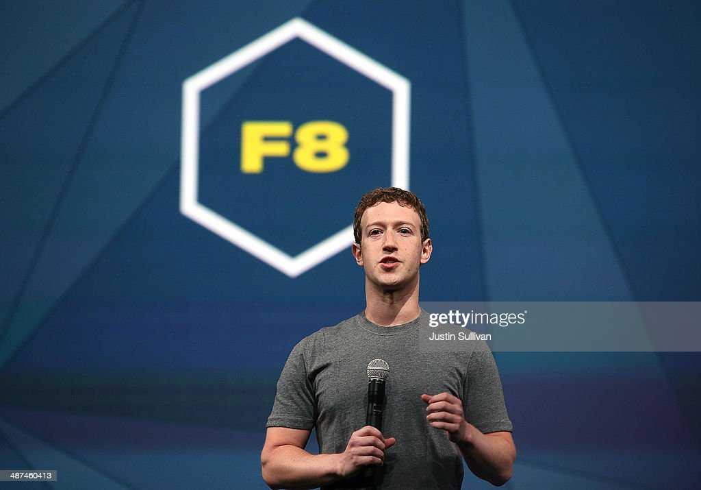 Facebook CEO Mark Zuckerberg delivers the opening keynote at the Facebook f8 conference on April 30, 2014 in San Francisco, California. Facebook is hosting the one-day developers conference for the first time since 2011 and over 1500 developers are expected to attend.