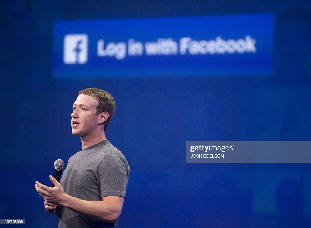 Facebook CEO <a gi-track='captionPersonalityLinkClicked' href=/galleries/search?phrase=Mark+Zuckerberg&family=editorial&specificpeople=4841191 ng-click='$event.stopPropagation()'>Mark Zuckerberg</a> speaks at the F8 summit in San Francisco, California, on March 25, 2015. Zuckerberg introduced a new messenger platform at the event.