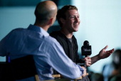 Facebook CEO Mark Zuckerberg speaks at the Newseum September 18 2013 in Washington DC Zuckerberg participated in an interview with James Bennet...