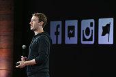 Facebook CEO Mark Zuckerberg speaks during a press event at Facebook headquarters on June 20 2013 in Menlo Park California Zuckerberg announced a new...